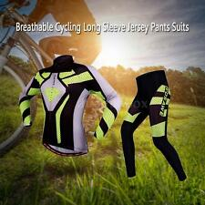 NEW MENS CYCLING JERSEY LONG SLEEVE PANTS SHORTS SUITS BICYCLE CLOTHING NEW Q1V2