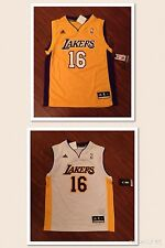 Pau Gasol Los Angeles Lakers Youth Adidas Rev 30 Replica Jersey New With Tags