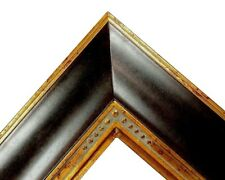"4.5"" fancy Mahogany Brown Ornate kinkade Oil Painting Wood Picture Frame 240G"