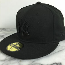 New York Yankees Black on Black fashion Hats New Era 59Fifty Fitted Caps