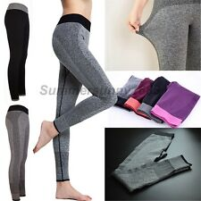 Womens Workout YOGA Running Sports Pants High Waist Fast Dry Leggings Fitness Sy