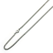 Men's 3.5mm Stainless Steel Chain Necklaces Cuban Link Curb Chain / Gift box