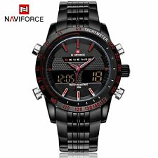 Men's Digital LED Date Day Stainless Steel Army Sport Alarm Quartz Wrist Watch