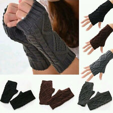 New Women Winter Wrist Arm Hand Warmer Knitted Long Fingerless Gloves Mitten