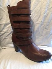 Pepe Jeans Brown Leather Mid calf Boots Size 39