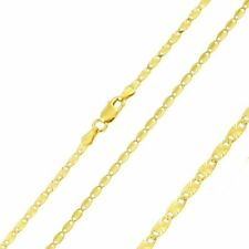 Pure 2.5mm 925 Sterling Silver Chain Necklace / Gold Plated made in italy