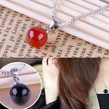 Salings Chic Plated Silver Necklace Silver Jewelry Pendant Natural Agate Pendant