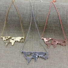 Combination Hot Personality Pendant necklace Exaggerated New World map Fashion