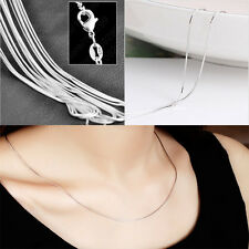 Women Smooth Snake Chain Necklace With Lobster Clasp For Pendants