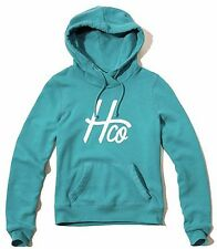 Nwt Hollister By Abercrombie & Fitch Women's Hoodie Sweatshirt Turquoise