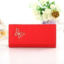 Girl Womens Butterfly Decoration Long Wallet Portable Tote Purse Small Money Bag