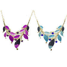 Necklace Earring Hot Fashion Women Leaf Faux Jewelry New Diamond-encrusted Set