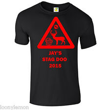 STAG DO T SHIRT , STAG PARTY T SHIRTS , HEN PARTY T SHIRTS , PERSONALISED , NEW