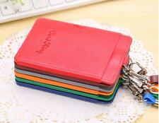 PU Leather Id Holders Case Business Badge Card Holder with Necklace Lanyard SE