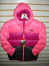 THE NORTH FACE GIRLS REVERSIBLE DOWN MOONDOGGY JACKET- CSB4- GEM PINK- S, L,XL