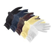 Equetech Leather Show Gloves - Various Colours! FREE P&P!