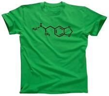 ECSTASY MDMA MOLECULE Funny Cool Clubbing Party Club - T-Shirt - NEW - Green