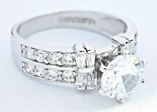 Women's 2.0 ct Simulated Diamond Solitaire 14k Solid Gold Engagement Ring