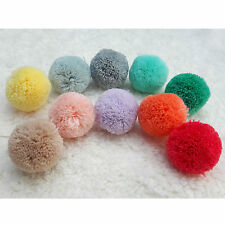 100pcs/lot Pom Poms 20mm Made of Acrylic Yarn Craft Supplies by RIBBONNKIDS