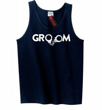 Groom Handcuffs Funny Mens Tank Top Wedding Gift Marriage New Husband Tank Z3