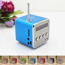 Portable Micro SD TF USB Mini Stereo Speaker Music Player FM Radio PC MP3/4 New