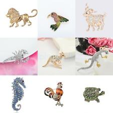 Mixed Styles Animals Crystal Rhinestone Pin Brooch Fashion Jewelry Party Gifts