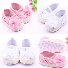 Baby Girl Crochet Knit Summer Sandals Shoes Non-Slip Flower Shoes 11/12/13