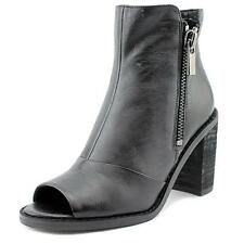 Kenneth Cole Reaction Lacey Women  Peep-Toe Leather Black Ankle Boot