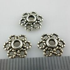 80/600pcs Tibetan Silver Hollow Flower End Bead Caps Jewelry Charm Beading