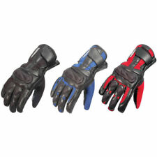 Buffalo Racetex Leather Textile Summer Motorbike Motorcycle Mesh Vented Gloves