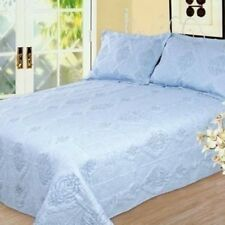 NEW Twin Full Queen King Bedspread Coverlet Quilt 3 pc Set Blanket Shams Blue