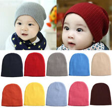 Candy Color Baby Boy/Girl Cute Soft Cotton Beanie Hat Knitted Winter Warm Cap