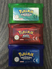 Nintendo Gameboy GBA SP Pokemon Emerald Ruby Sapphire *New Battery* *Genuine*