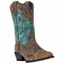 Dan Post DPC3151 Youth Girl's Brown Vintage Bluebird Western Boots