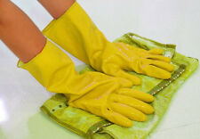 Rubber Yellow Dishwashing Waterproof Laundry Orange Protective New Gloves Clean