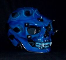 Custom Motorcycle Jet Helmet Skull Skeleton Death Ghost Rider Visor DOT approved