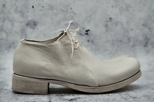 M.A+ MAURIZIO AMADEI UNISEX WHITE DOUBLE FOLD COW LEATHER DERBY 38,39,40, 1920$