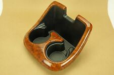 00-02 Toyota Tundra Center Console Cup Holder Trim Wood Grain Limited