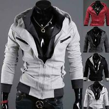 Top Designed Mens Sexy Slim Fit Hooded Hoodies Jackets Coats M-XXL