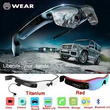 Smart Wireless Bluetooth 4.0 Video Glasses Camera Headset Record For Android IOS
