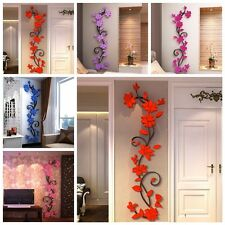 New 3D Acrylic Flower Removable Vinyl Quote DIY Wall Sticker Decal Mural Decor