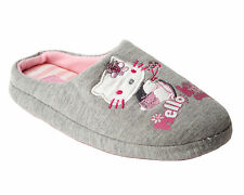 NEW GIRLS OFFICIAL HELLO KITTY GREY CASUAL MULE SLIP ON SLIPPERS UK SIZE 8-2