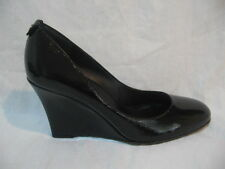 NIB AUTN GUCCI Black Patent Leather CLASSIC WEDGES PUMPS SHOES size 10.5