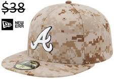 Atlanta Braves Men New Era 59Fifty Fitted MLB Camo Camouflage Baseball Hat Cap