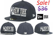 New York Yankees Men MLB New Era 59Fifty Fitted Baseball Hat Cap Team Apparel