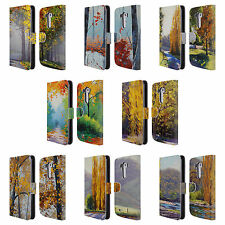 OFFICIAL GRAHAM GERCKEN AUTUMN LEATHER BOOK WALLET CASE COVER FOR LG PHONES 1