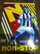 West Bromwich Albion v West Ham United Football Programme 30/04/2016