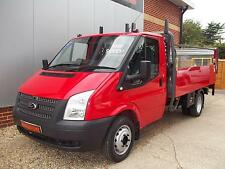 2012 FORD TRANSIT 2.2 LWB SINGLE CAB DROPSIDE TRUCK WITH TAIL LIFT 123HP FULL SH