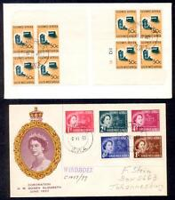 SOUTH WEST AFRICA 2 DIFF 1950's FDC