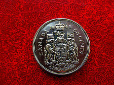 1969 NICKEL FIFTY CENT CANADA VERY NICE COIN !!!!!!!!
